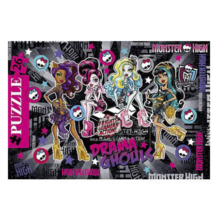 Пазлы Hatber 26 эл. 200*300мм в Рамке Школа Монстров-(Monster High) 26П34 12983