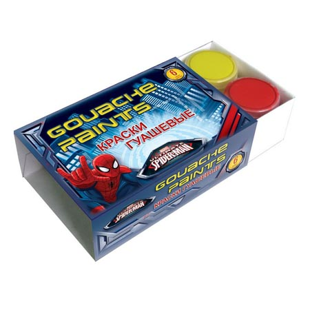 Гуашь 6цв. Seventeen Spiderman 10 мл к/кор. SMCB-US1-GU-6