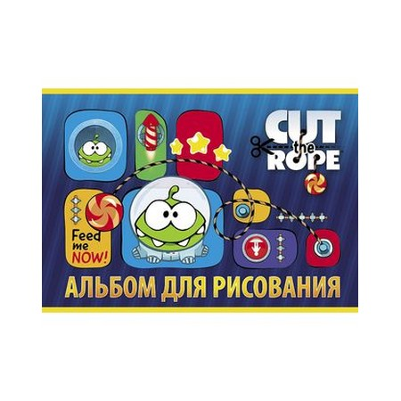Альбом 24 л. д/рис. Hatber CUT THE ROPE 24А4В